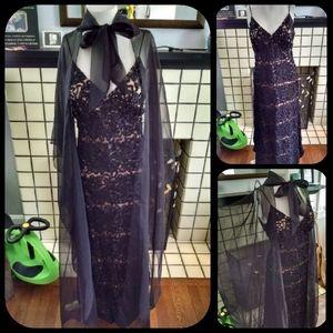 Vintage Jack Bryan Dress/Gown & Cape